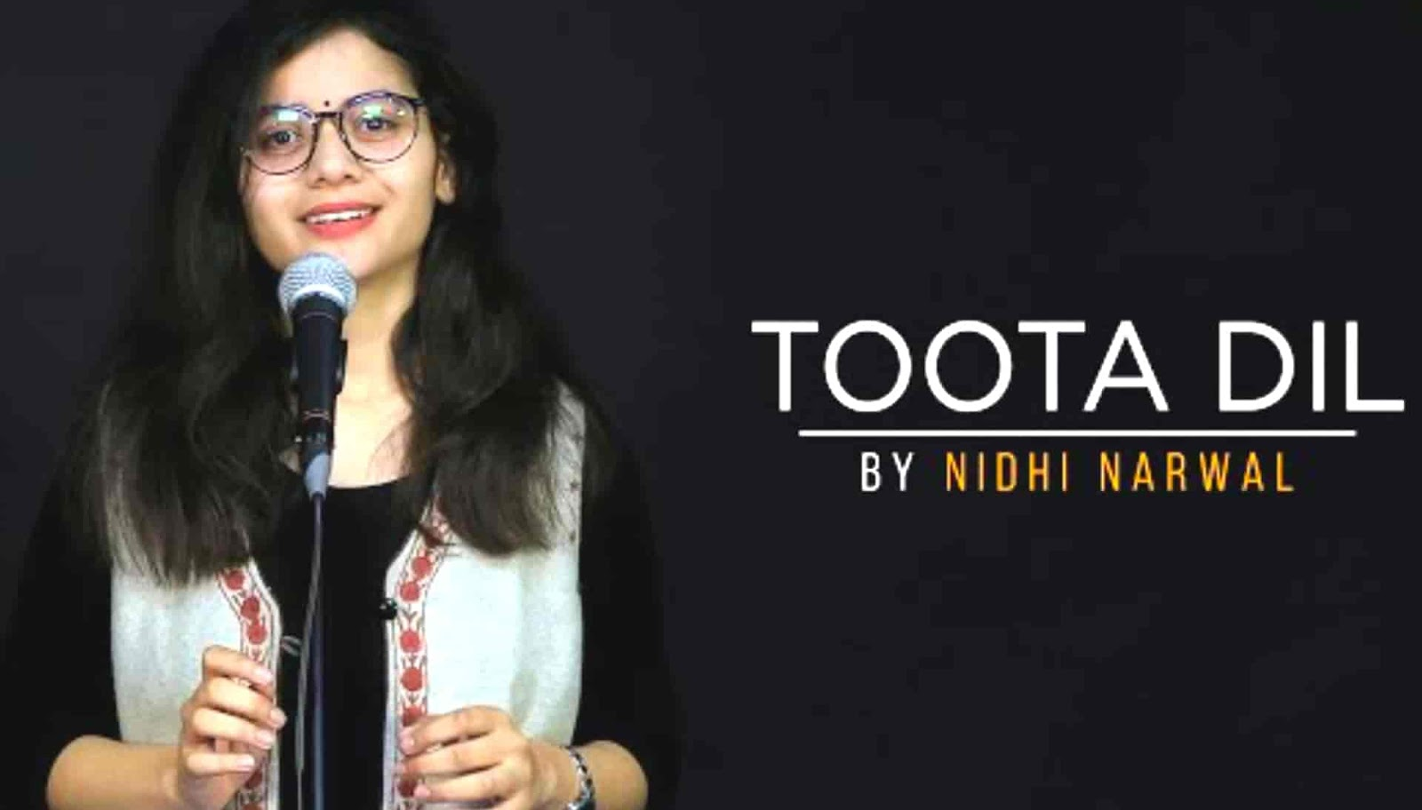 """Toota Dil Lyrics :- If you feel your life has lost after break up from your someone special. In this case you want to move on your life like before then you should read this beautiful hindi poetry which is titled """"Toota Dil"""". Very beautiful and young poetess Nidhi Narwal written performed this motivation poetry under label of Nidhi Narwal official channel."""