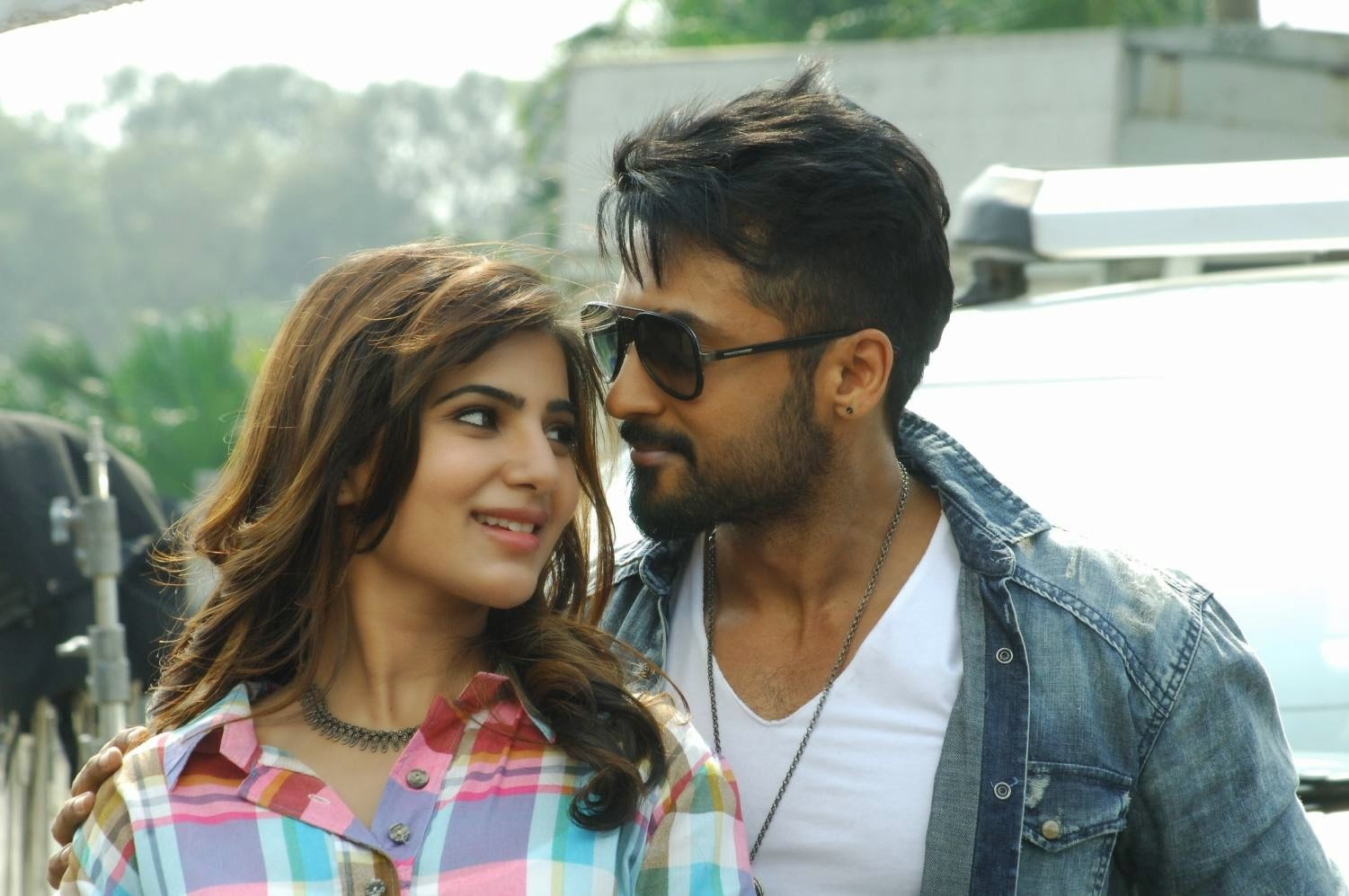 Whether Suriya Acting In Savitri Biopic Movie: Anjaan (2014) Movie FirstLook Images Photos Gallery In HD