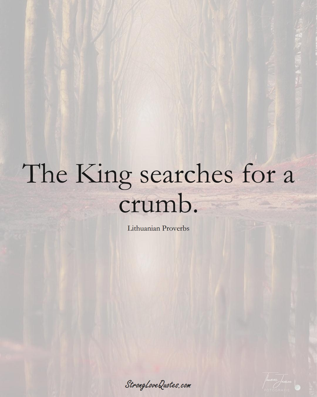 The King searches for a crumb. (Lithuanian Sayings);  #AsianSayings