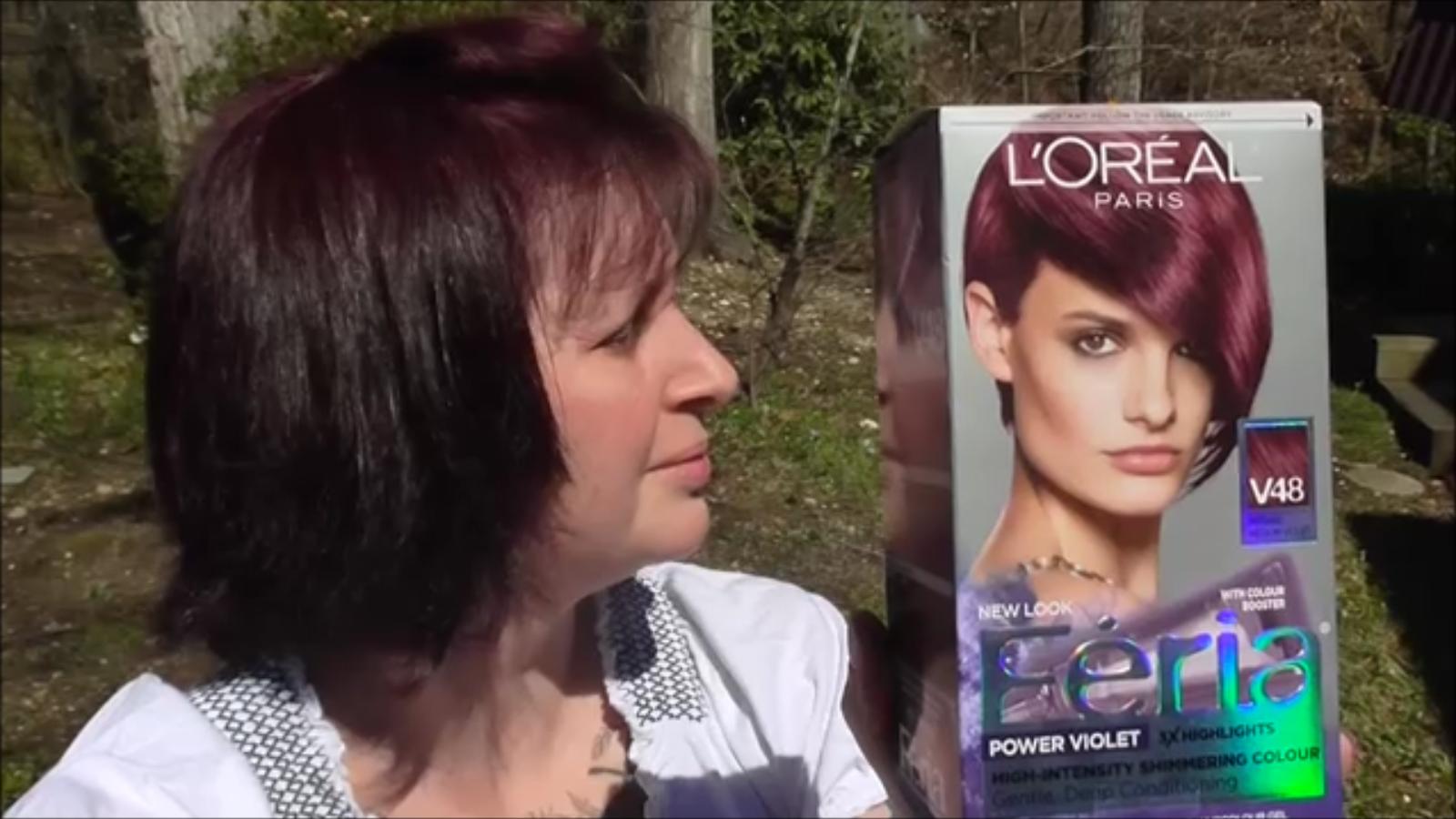 Review Feria Power Violet Intense Medium Violet V48 Hair Color