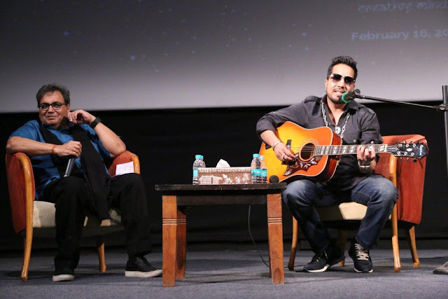 Subhash Ghai and Mika Singh