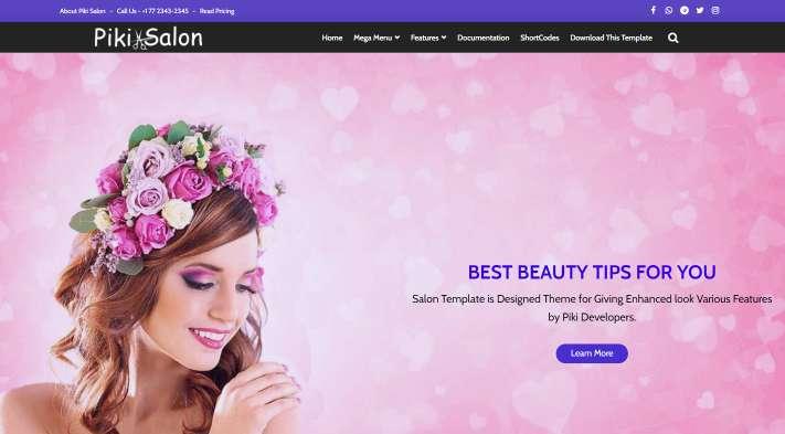 Blogger Template Piki Salon