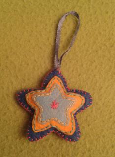 Estrella para colgar en el árbol de Navidad