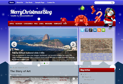 """Шаблон для Blogger """"MerryChristmasBlog"""""""
