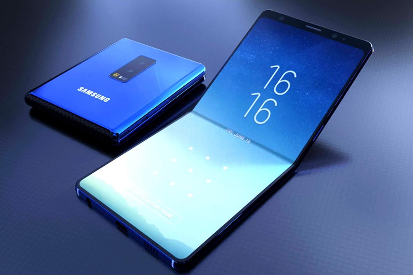 سامسونغ تخطط لإطلاق هاتف صدفي قابل للطي