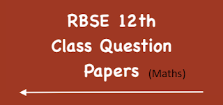 RBSE Class 12th Board Model Papers 2020 - Mathematics
