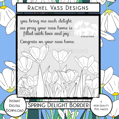 Rachel Vass Designs - Spring Delight Border