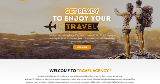 Travel Agency Website Composition.