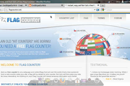 Cara Memasang Flag Counter di Blogspot