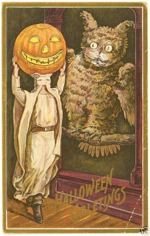 Fall Pumpkin Wallpaper Bizarre Vintage Halloween Postcards Vintage Everyday