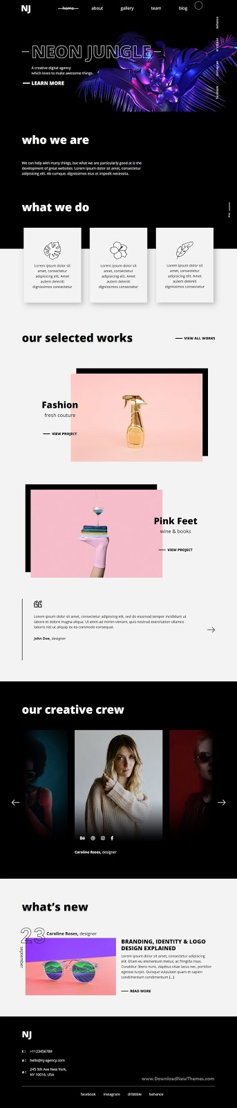 Neon Jungle - Creative Agency Template