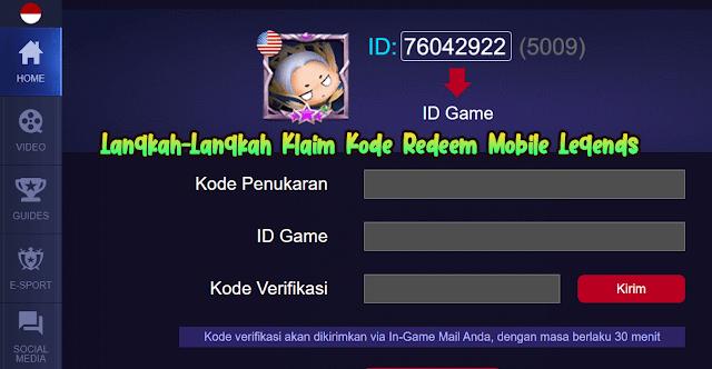 Cara Klaim Kode Redeem Mobile Legends dengan mudah