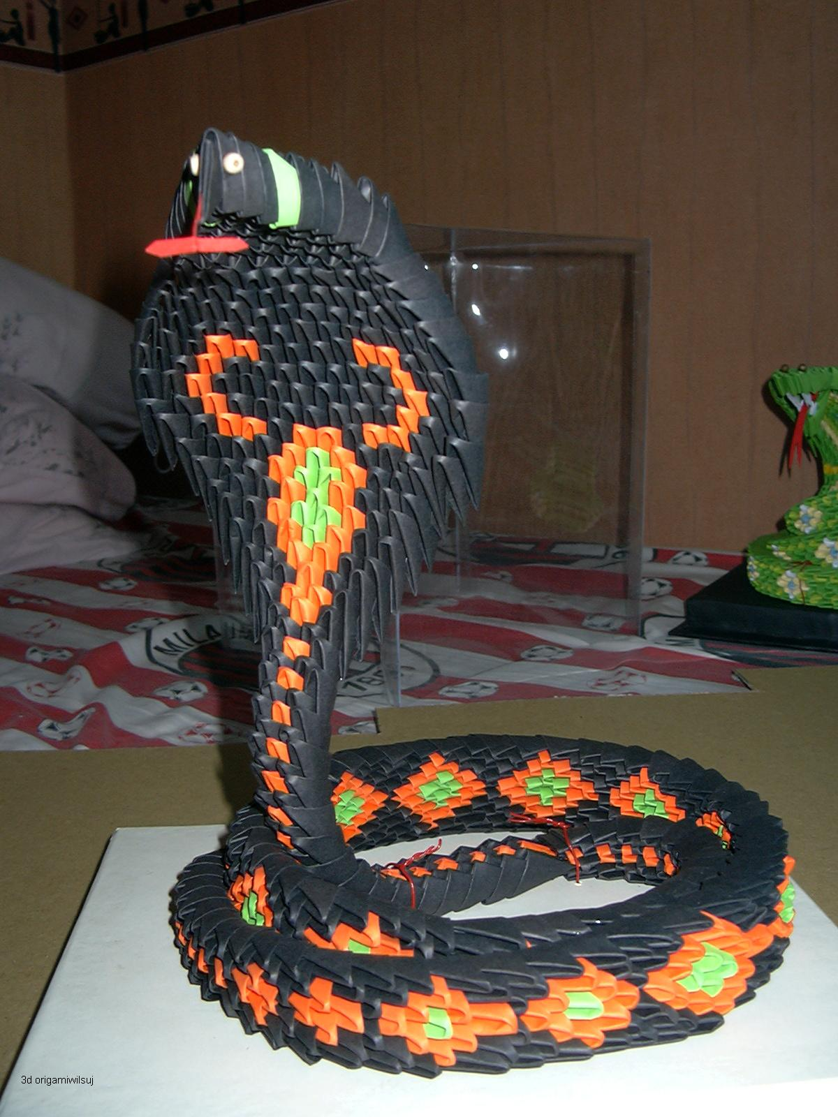 ICHANOKO 3D ORIGAMI INDONESIA: 3d origami - Animals snake ... - photo#42