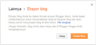 Cara Export Blog
