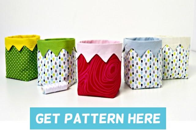 fabric bin pattern is an easy sewing pattern