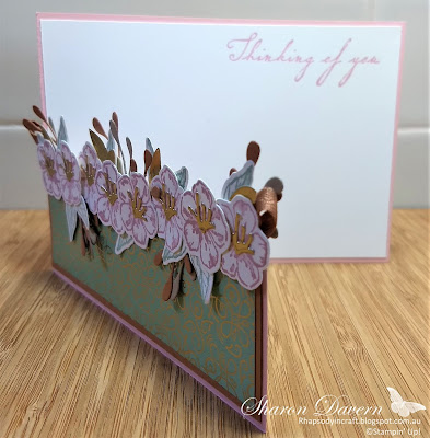 Rhapsody in craft, Blushing Bride, Forever Blossoms, Cherry Blssoms Dies, Woven Heirlooms, Fancy fold, Stampin' Up!, 2020-21 Staminp' Up Catalogue