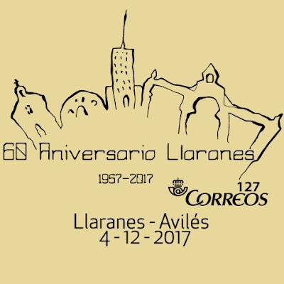 Matasellos del 60 Aniversario de Llaranes