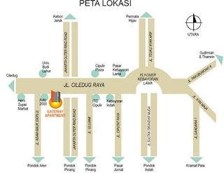Sewa / Jual Apartemen Gateway Jakarta Selatan 2 BR Furnished