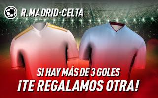 sportium promocion Real Madrid vs Celta 16 febrero 2020