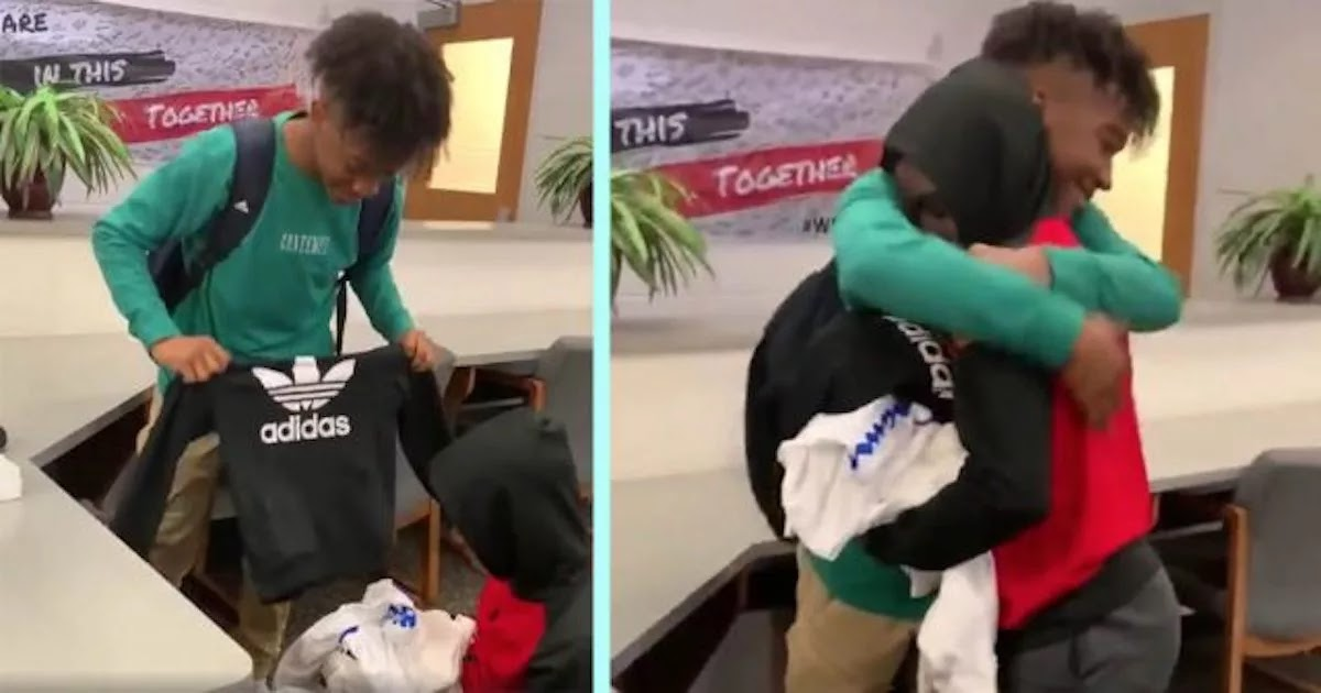 Kind Student Gives 3 Bags Of Clothes To Bullied Classmate Who Wore The Same Outfit To School Every Day