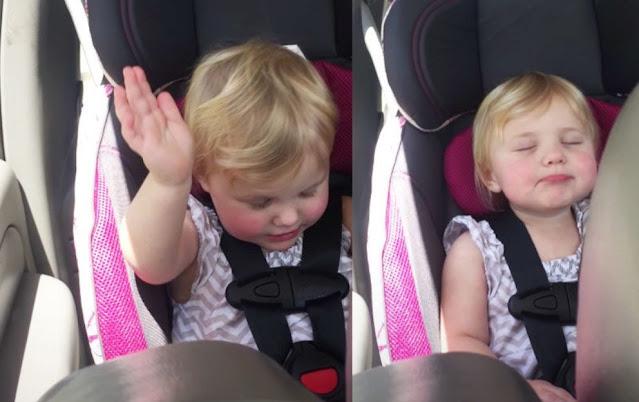 Bebê de 2 anos é filmado adorando a Deus no carro