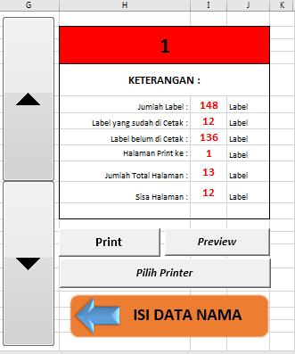 Aplikasi Label Undangan Excel