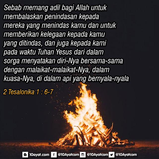 2 Tesalonika 1 : 6-7