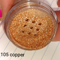 105 Copper metallic Revlon Color Charge pigment eyeshadow powder review