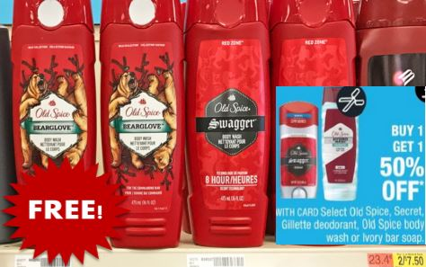 old spice free at cvs