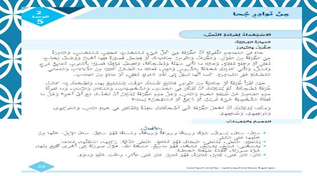 حل درس ابسمي الصف السادس لغة عرببية الفصل الثالث