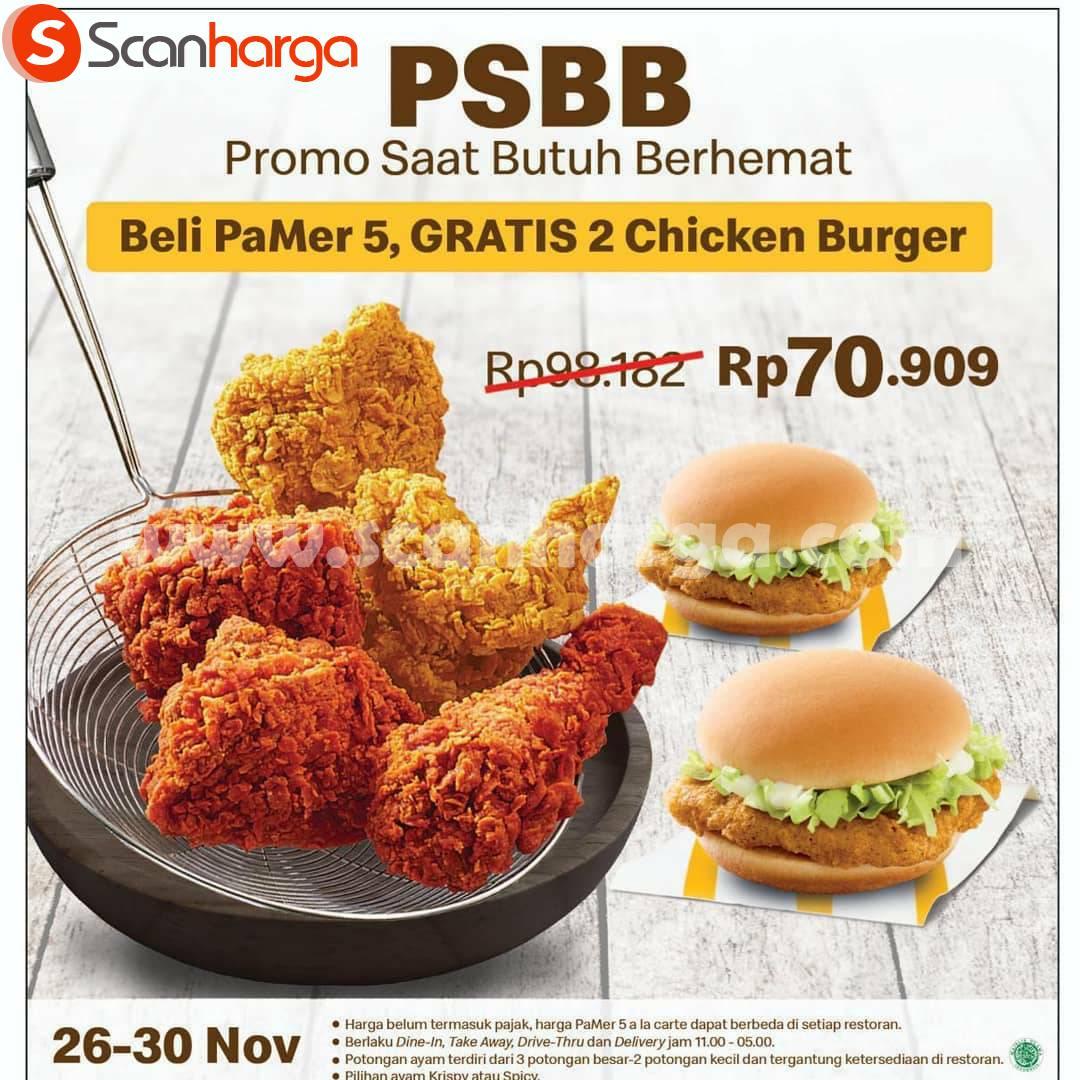 PSBB Mcdonalds Promo Beli PaMer 5, GRATIS 2 Chicken Burger