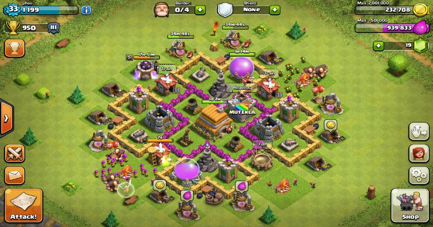 Membuat war dan trophy base TH level 6 coc yang lebih kokoh