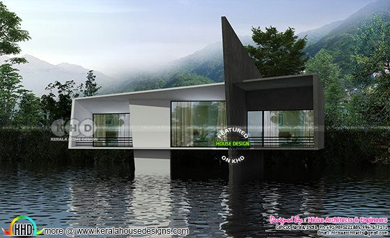 Floating contemporary cottage design