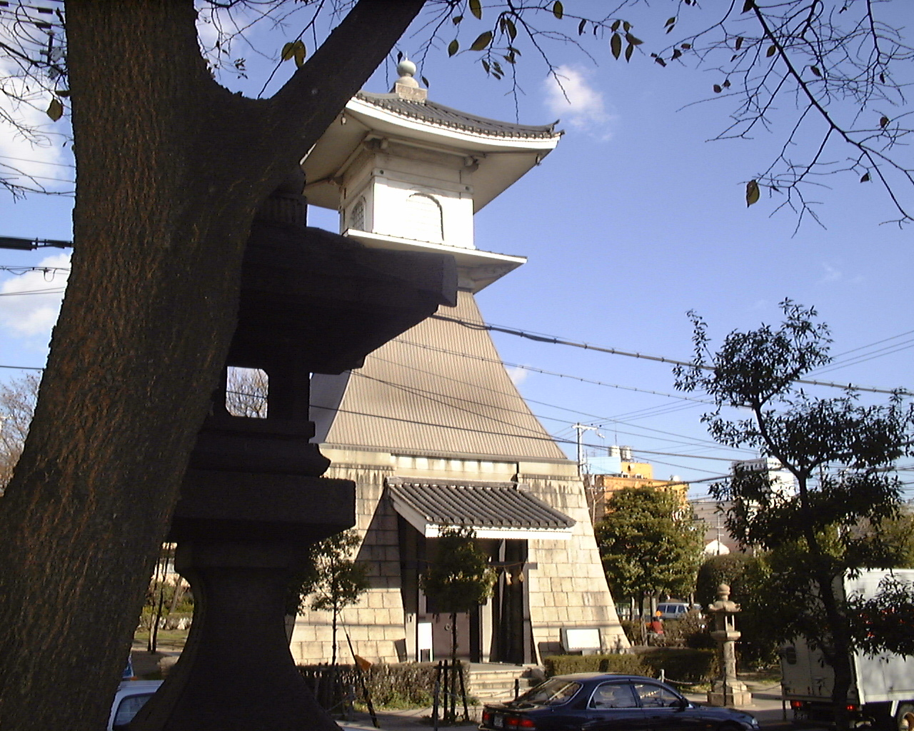 kakinomoto no hitomaro from hyakunin isshu nowheretostay s oldest lighthouse in sumiyoshi park osaka photo ad blankestijn