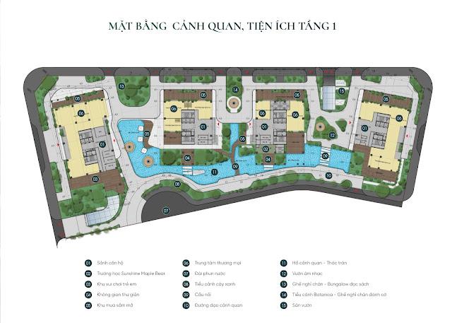 Mặt bằng thiết kế căn hộ dự án chung cư Sunshine Green Iconic Phúc Đồng Long Biên Hà Nội