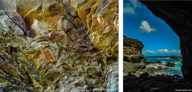 Pinturas rupestres na caverna Ana Kai Tangata, Ilha de Páscoa