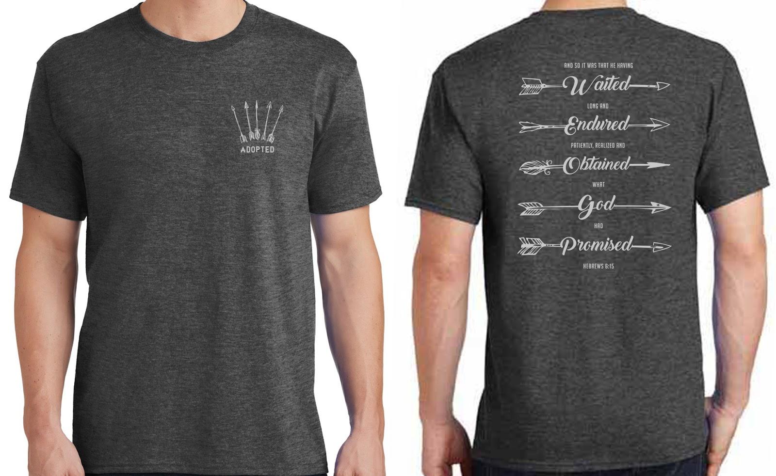 Carroll crew for Adoption fundraiser t shirts