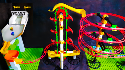 Corrida MALUCA de BOLINHAS de GUDE com ELEVADOR automático - MARBLE RACE elevator