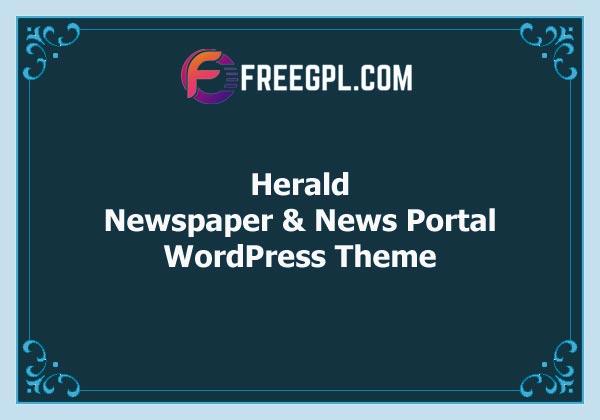 Herald – Newspaper & News Portal WordPress Theme Free Download