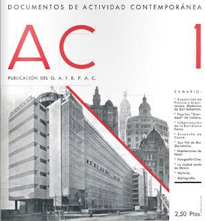 reproducción del numero 1 de la revista AC 1931 GATEPAC