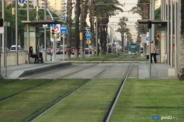tranvías en barcelona, avenida diagonal