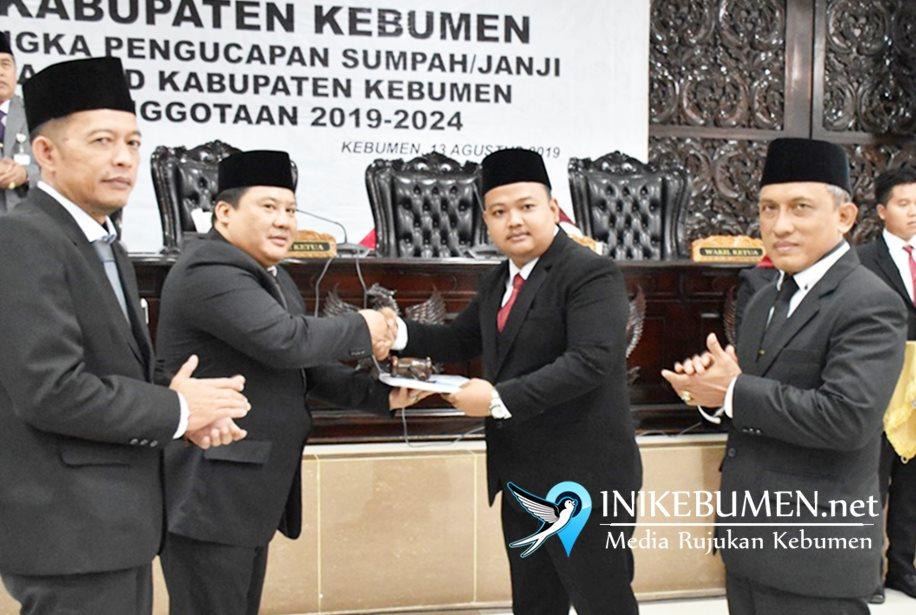 Adhitya Wisnu dan Nur Hariyadi Ditunjuk sebagai Pimpinan Sementara DPRD Kebumen