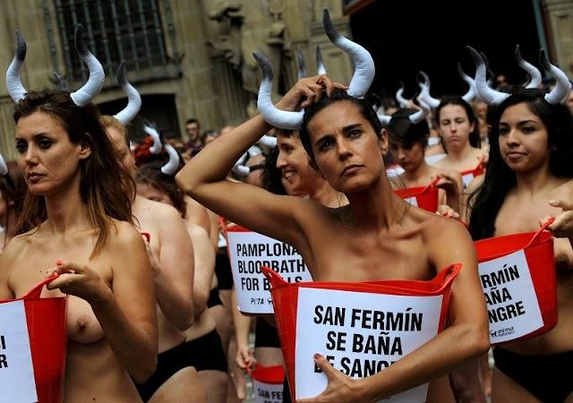 #Sex Abuses : 11 men arrested over suspected sexual abuses at Spain bull festival in Pamplona .