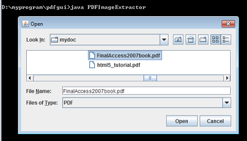 Java programs: Extract images from PDF