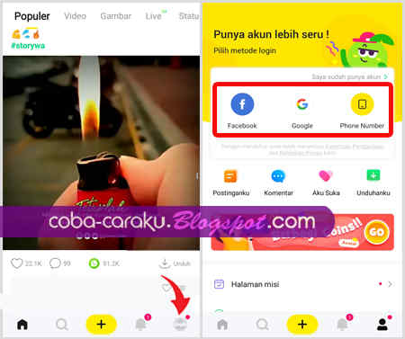 Salah satu aplikasi berbagi video yang menyediakan beragam konten lucu dari Indonesia den Cara Daftar, Upload dan Download Video di CocoFun