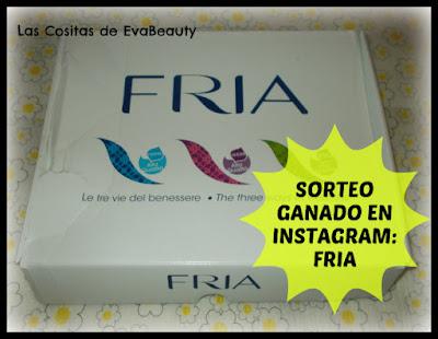 Concurso ganado en Instagram: Pack marca FRIA