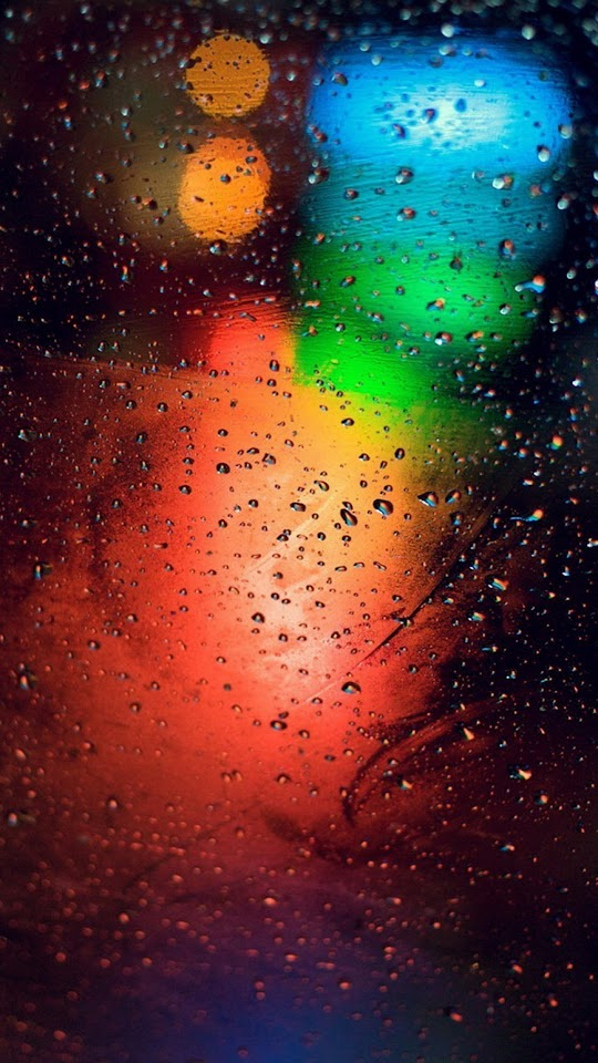 Traffic Lights Bokeh Water Drops  Galaxy Note HD Wallpaper