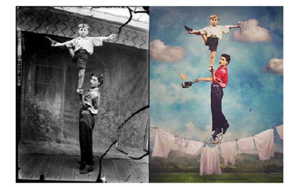 8 Foto, Master Photoshop Iseng Bikin Foto Tua Jadi Menakjubkan