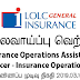 Vacancy In LOLC General Insurance Ltd.  Post Of - Insurance Operations Assistant /   Officer - Insurance Operations