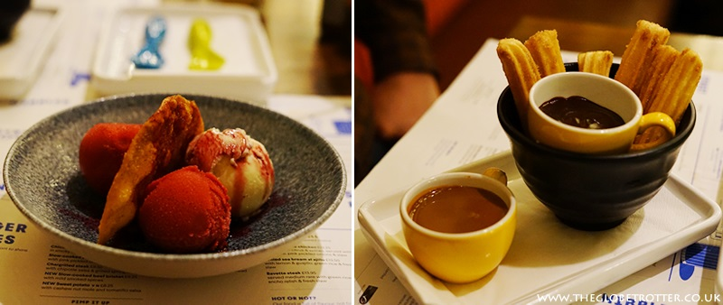 Ice cream and sorbets at Wahaca Shoreditch